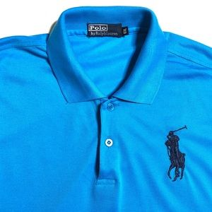 Ralph Lauren Men's Big Pony Logo Polo Rugby Shirt
